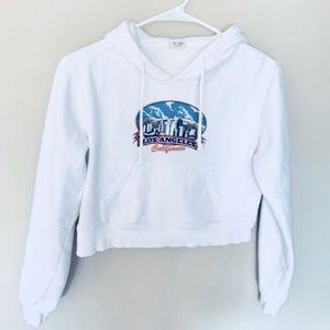 🌈 Brandy Melville Los Angeles cropped hoodie